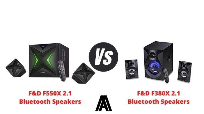 F&D F550x vs F380x speakers