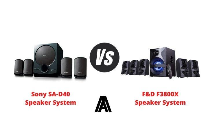 Sony SA D40 vs F&D F3800X